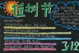 植树节黑板报-三月十二植树节
