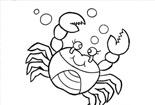 螃蟹的简笔画图片大全_威武的螃蟹