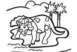 恐龙简笔画图片大全-三角龙