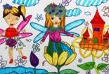 儿童水彩画之快乐的小花仙