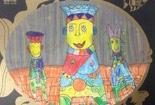 幼儿儿童画作品欣赏-和尚