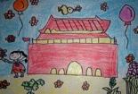 国庆节主题儿童画-欢度国庆节