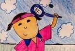 打网球关于运动的绘画图片大全
