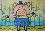 帮助他人的故事小猪收玉米