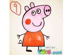 小猪佩奇一家简笔画教程系列之粉红小猪Peppa