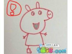 小猪佩奇简笔画教程步骤详解