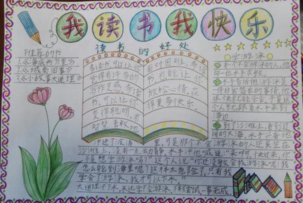 <b>我讀書我快樂語文閱讀手抄報</b>