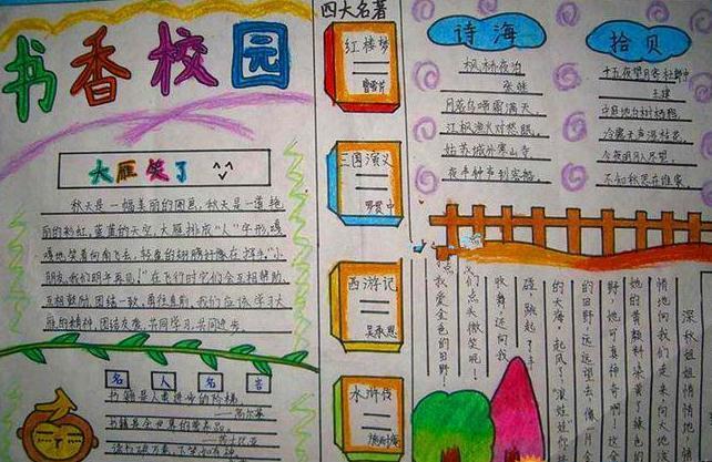 语文书香校园手抄报