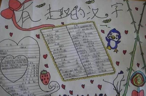 有趣的汉字语文手抄报
