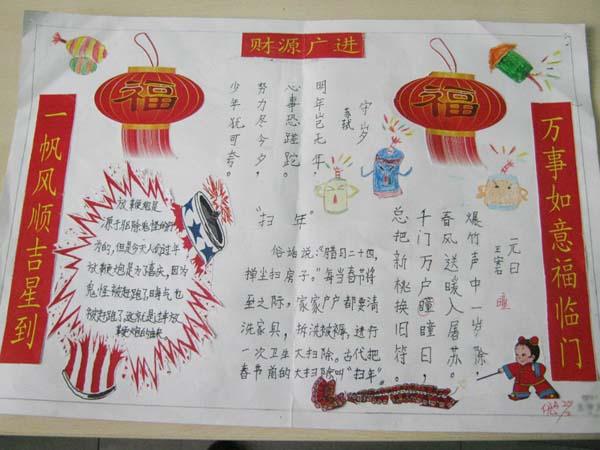 六年級春節幸福團圓手抄報集錦