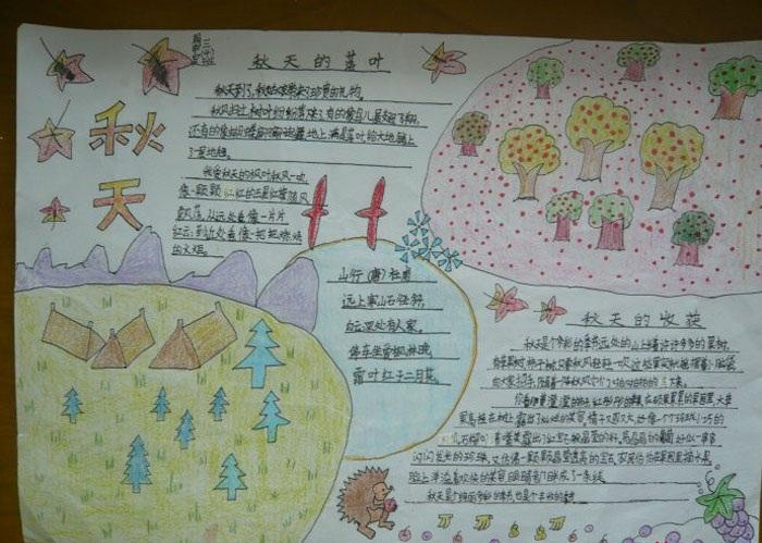 六年级手绘美丽的秋天手抄报
