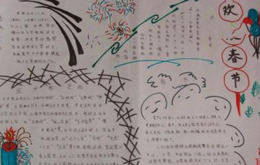 四年级喜乐迎新春过大年手抄报合集