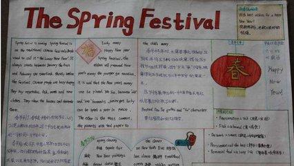 小学生春节英语手抄报大全
