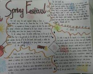 鼠年春節英語手抄報大全