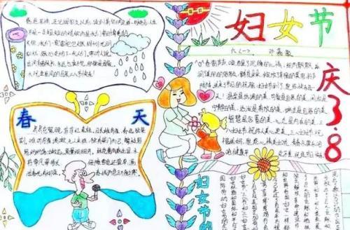 38婦女節精美手抄報  女神節手抄報合集