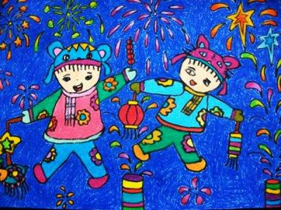 祝福新年快乐的一等奖彩色手抄报作品集