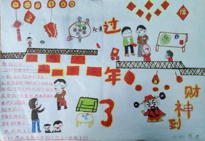 五年级手绘快乐的春节手抄报集锦