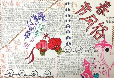 五年级喜迎中国新年手抄报