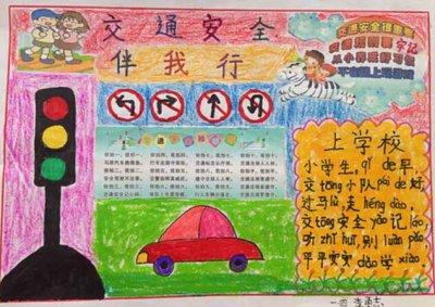 六年级交通安全一等奖手抄报高清图片