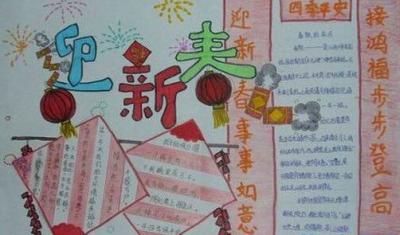 手绘快乐中国年新春获奖手抄报