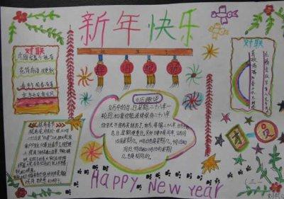 祝福新年快乐精美手抄报合集