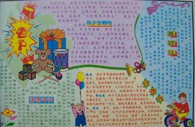 2020歡樂鬧新春創意手抄報集錦
