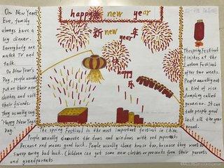 五年级以春节为主题精美手抄报合集
