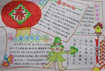 慶賀春節掛紅燈籠獲獎手抄報集錦