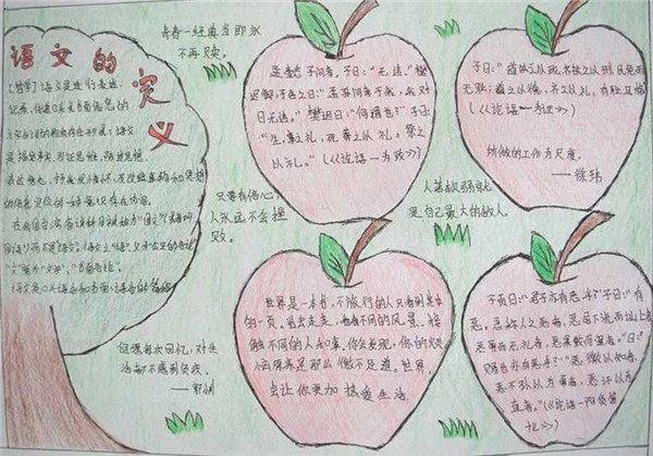 遨游語文世界手抄報內容