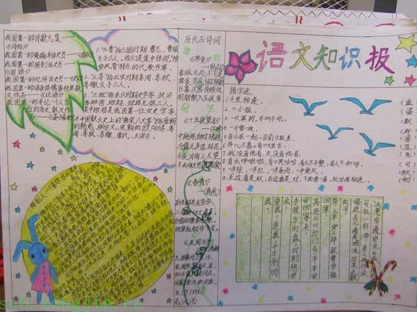 小學語文有趣手抄報