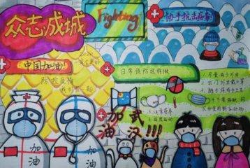 预防新型冠状肺炎小学生手抄报怎么画