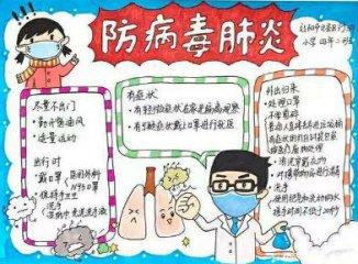 簡單的抗擊冠狀肺炎手抄報內容