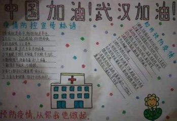 最新預防冠狀病毒手抄報 防控新型冠狀肺炎手抄報內容