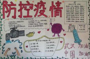2020抗擊新型肺炎小學生手抄報圖片素材大全