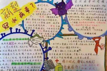 中国加油武汉加油抗击病毒手抄报内容