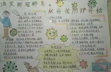 為疫情加油的手繪畫兒童手抄報