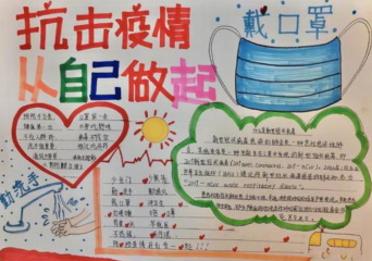 众志成城抗疫情小学生绘画图片