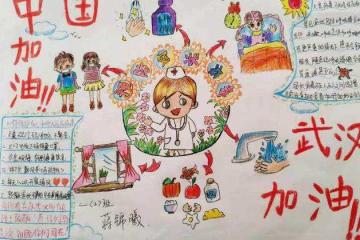 抗击疫情手抄报中国加油图片