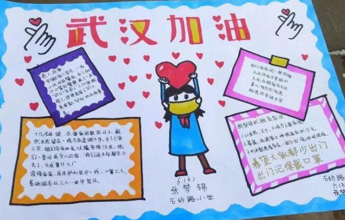 武汉加油抗击疫情六年级手抄报