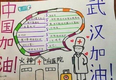 抗击疫情人人有责小学生手抄报模板