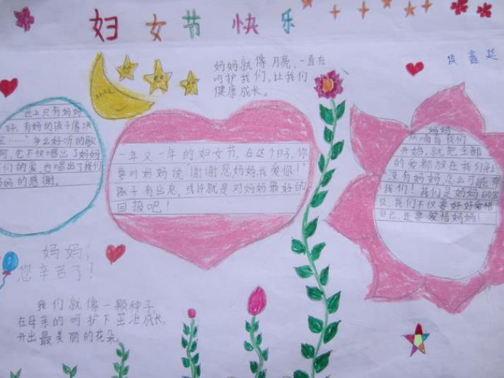 妇女节快乐手抄报三年级