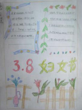 三八妇女节妈妈的节日手抄报模板
