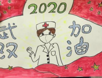 2020控制疫情抗击病毒儿童绘画