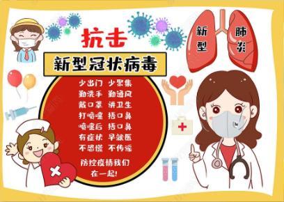 防控疫情手抄报模板_抗击新型冠状病毒手抄报图片