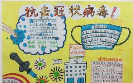 英雄城市武汉加油小学生手抄报精美图片