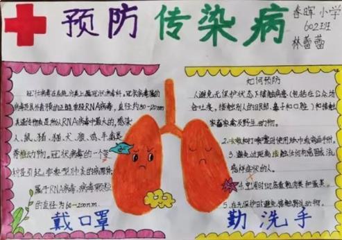预防传染病新型肺炎手抄报简单好看图片