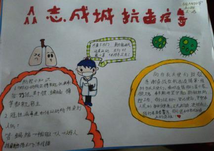 众志成城抗击疫情手抄报小学生作品欣赏