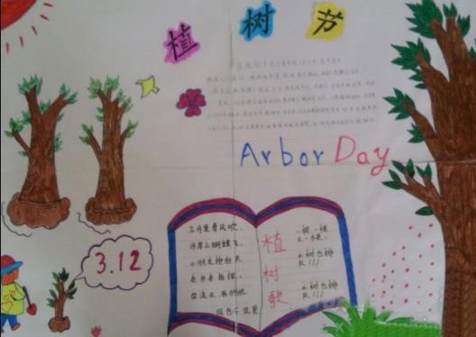 3.12植树节儿童手抄报简单又漂亮
