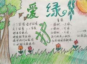 植树节爱绿护绿手抄报简单漂亮