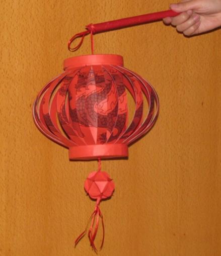 手工灯笼制作方法教程_两种简易的手工灯笼步骤图